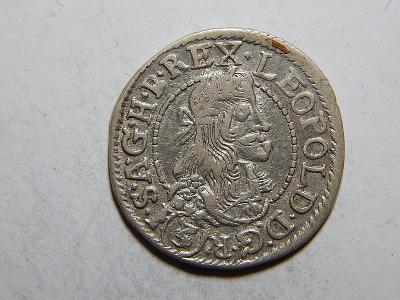 Leopold I. 3 Kreuzer 1681 KB XF č05370