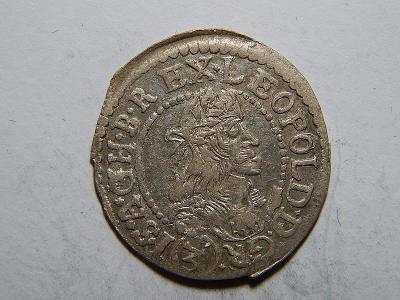 Leopold I. 3 Kreuzer 1683 KB XF č05366