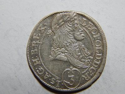 Leopold I. 3 Kreuzer 1693 KB XF č05363
