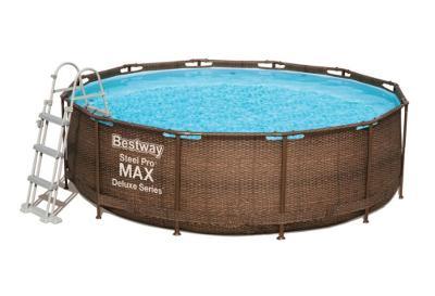 Bazén s konstrukcí rattan 366 x 100 cm se schůdky