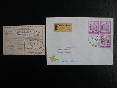 Rakousko FirstDayCover 1980, prošlé, doporučeně, vč.podacího lístku!