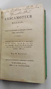 RARITA/  kouzelnických trikech / L'escamoteur habile  1816/ cenná !!!!