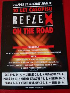 REKLAMNÍ POHLEDNICE 10. LET ČASOPISU REFLEX 2000