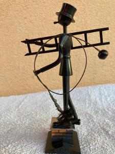ART - DEKO. Nádherná socha kominíka - zakázková práce kominík