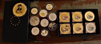 16 x pamětní  mince různé