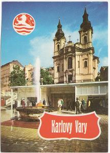 Česko velký formát barevná nepoužitá: Karlovy Vary - Vřídlo