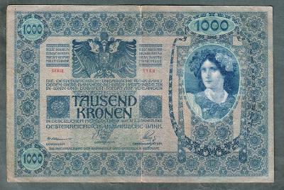 1000 korun 1902 serie 1159 bez přetisku