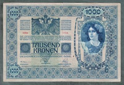 1000 korun 1902 serie 1104 bez přetisku