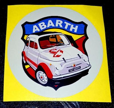 FIAT 500 ABARTH bílá samolepka pr.7-(1x).