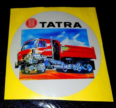 TATRA 815 řez automobilem, bílá samolepka pr.7-(1x).