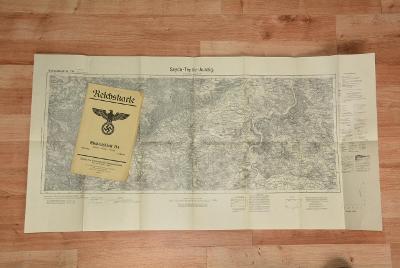 mapa Raichskarte Sayda-teplice-Ústí nad Labem