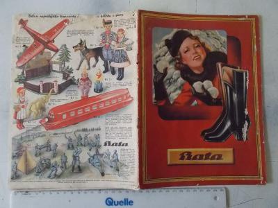 Stará reklamní brožůra Katalog výrobků ceník Bata Zlín guma voják hrač