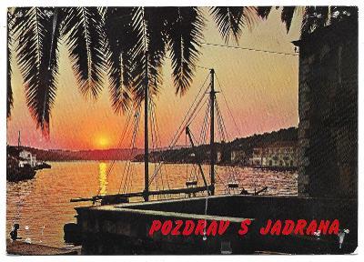 5  JUGOSLÁVIE -  POZDRAV Z JADRANU - 1968 - POŠKOZENÁ