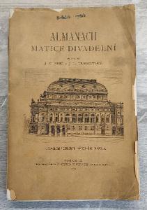 Almanach matice divadelní - redakční výtisk 1881