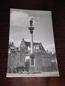 Pohlednice Varšava, prošlé poštou.