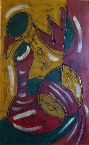 Bohumil Samuel Kečíř , Zátiší II. rozměr XXXXL 130 x 80cm
