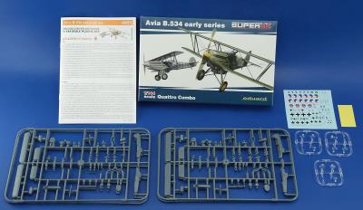 Avia B.534 early series, Quattro Combo Limitka, 1:144, Eduard