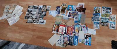 230 pohlednic,dopisy vše na fotkách 1916-2008 většinou přání,vánoce,pf