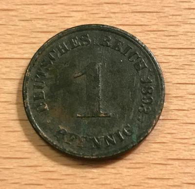 1 Pfennig 1893 J