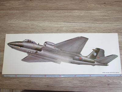 Large Print Saab AJ 37 Viggen signed Keith Fretwell  81CM X 28.5CM