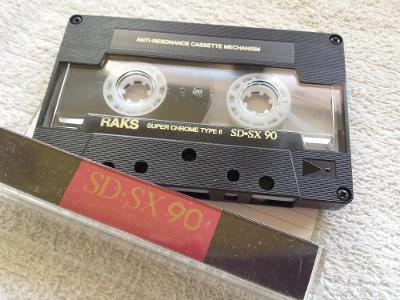 Audio Kazeta RAKS SD-SX 90 Super Chrome Cassette
