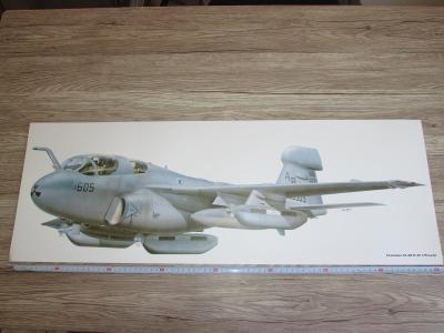 PRINT GRUMMAN EA-6B ICAP 2 PROWLER SIGNED  81CM X 28.5CM