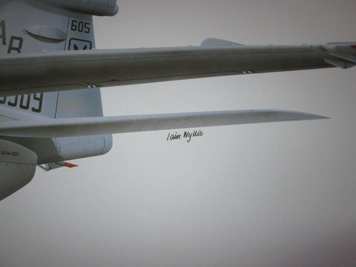 PRINT GRUMMAN EA-6B ICAP 2 PROWLER SIGNED  81CM X 28.5CM  - Modelářství