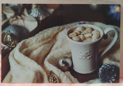 Pohlednice káva, vánoční (POLSKO) - čistá VF