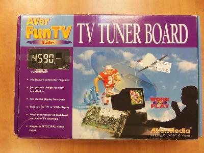 PC MUZEUM Aver Fun TV NOVÉ kompletní balení NESEHNATELNÉ od 1,- Kč!!!