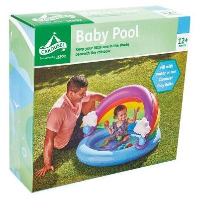 nový bazén se stříškou 107 x 98 x 63,5 cm