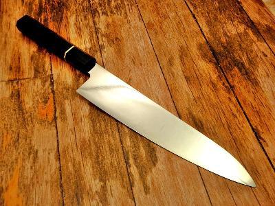 K09/ Chef Kuchynsky nůž. Ocel VG-10  RUKOJET EBEN 38,5 cm