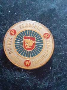 Odznak 26.ročník Závod Míru 1973 Pardubice  - cyklistika.