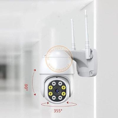 Venkovní  otočná Wifi IP kamera Jortan