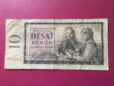 10 Kčs 1960 LEPŠÍ série E 26 / 655324