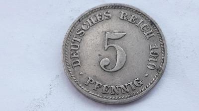 5 Pfennig 1910 D
