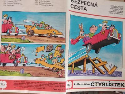 ČTYŘLÍSTEK BEZPEČNÁ CESTA 1985