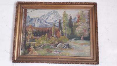 Stary velky obraz malba