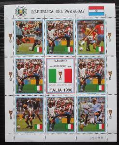 Paraguay 1989 MS ve fotbale Mi# 4438 Bogen Kat 20€ 1804