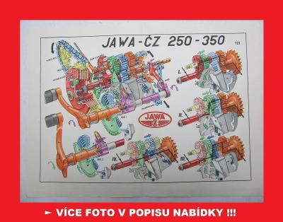 Jawa-ČZ 250 350 KÝVAČKA - spojka a převodovka motocyklu - obrázek