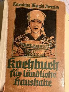 Kuchařka - válečné vydání 1941 - zajímavý kousek .