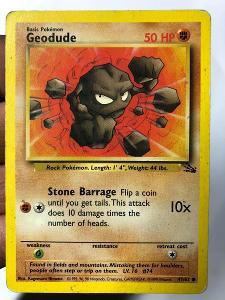 POKEMON CARD 30- GEODUDE 47/62