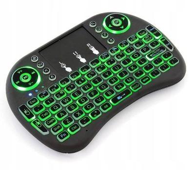 Bezdrátová podsvícená mini klávesnice s touchpadem TV BOX