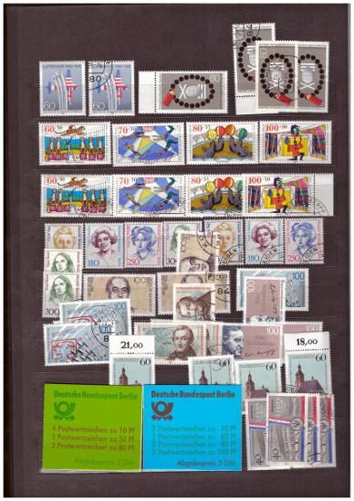 SBÍRKA NĚMECKO BERLIN **, RAZ., ZÁNOVNÍ ZÁSOBNÍK, VŠE FOTO (M164) - Filatelie