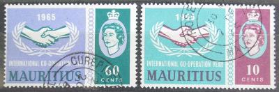 Mauricius 1965 Rok mezinárodní spolupráce Mi# 285-86 1113