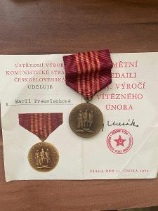 Medaile Rad Odznak Československo