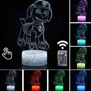 Paw Patrol / Tlapková patrola - LED lampa 3D, různé barvy