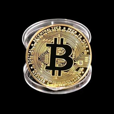 Pozlacená mince Bitcoinu