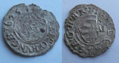 1 denár, Ferdinand II., 1625, KB
