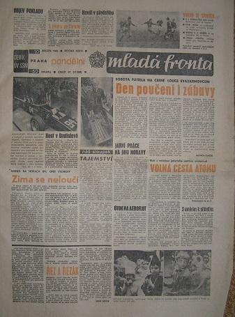 noviny Mladá fronta - 10. března 1980
