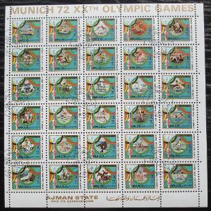 Adžmán 1972 LOH Mnichov RARITA Mi# 1605-34 Kat 75€ 1117